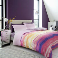 Mineral Ombre Printed Duvet Cover Set Double Single King Size Reversible Bedding