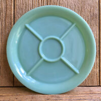 Fire King Jadeite Jadite Green Glass Five Section Divided Plate Restaurant Ware