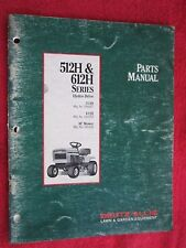 "1992 DEUTZ ALLIS MODEL 512H & 612H, 36"" CUT LAWN TRACTOR & DECK PARTS MANUAL"