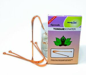 3 Pieces Copper Tongue Cleaner for Oral Care with Ayurveda Specialist