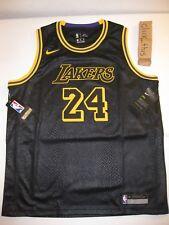 best loved af927 5413a NIKE Los Angeles Lakers Swingman Jersey Youth SZ L Black Kobe Bryant