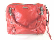 REBECCA MINKOFF WOMEN'S CUPID LEATHER SATCHEL HANDBAG, RED, ONE SIZE, H205E01C