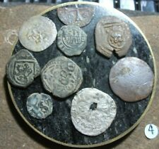 Medieval Coins Lot 1200-1600's Crusader Templar Cross Ancient Pirate Colonial n4