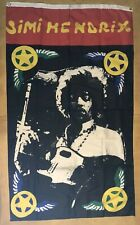 Jimi Hendrix Original Vintage Tapestry Flag Banner Psychedelic Pin-up 1970's