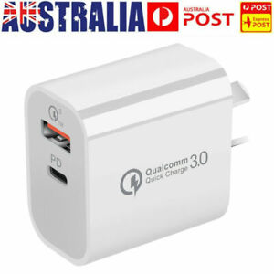 18W USB PD Type-C Quick Fast Wall Charger Adapter iPhone 12 11 Samsung AU PLUG