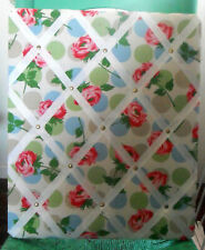 Cath KIDSTON Memory PIN BOARD Bubble Rose FABRIC, White, Pink, Red, Green, Blue