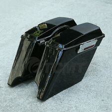 """5"""" ABS Stretched Extended Saddlebags Speaker Lid For Harley Touring Glide 93-13"""