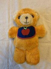 Fisher Price Freddy Teddy Bear 1975 Apple Bib And Squeeker Vintage