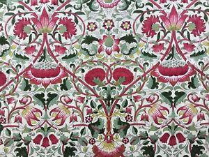 William Morris Curtain Fabric 'Lodden' 69cm Rose/Thyme 100% Cotton
