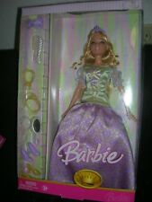 Barbie Masquerade ball doll in green top/purple print gown 2006