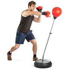 """Boxing Bag Set With Punching Ball, Gloves, Hand Pump """" Adjustable Height Stand -"""