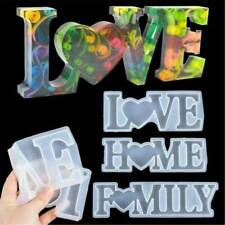LOVE Sign Resin Casting Mold Silicone Jewelry Making Epoxy Mould Craft Art DIY ~