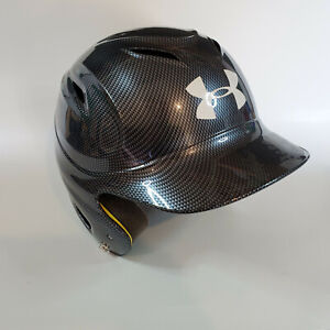 Under Armour Senior Batting Helmet Black Silver Tech (6-1/2-7-1/2)