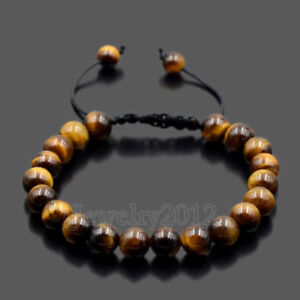 Men's Women's Natural Turquoise Howlite Agate Macrame Weaving Bracelets Jewelry