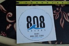 "808 BOARDS MAUI Hawaii wave ~6"" Vintage SUNGLASSES Surfing Decal STICKER"