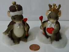 Charming Tails Queen of My Heart 84/114 King of My Heart 84/113 Mice Figurines