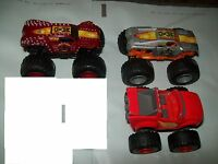 Lot of 3 Mixed Diecast Bigfoot Hot Wheels Monster Jam Trucks Cars Vehicles-NWOT