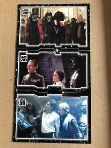 Star Wars 30th Anniversary Topps Tryptich 3 Card Puzzle, Imprisonment. rare jedi