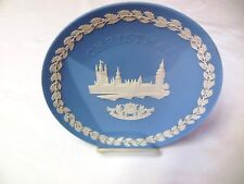 Vintage Blue Wedgwood 1974 Christmas Plate The Houses Of Parliament