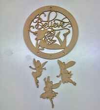 MDF WOODEN Dreamcatcher Mobile Dream Catcher Believe with Fairy