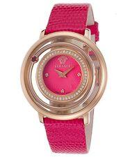 Versace Women's VFH150014 Venus Rose Gold Ion Plated Pink Topaz DIAMOND Watch