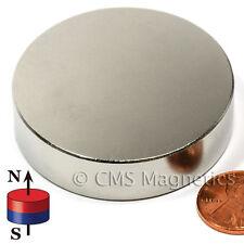 """Cms N50 Neodymium Magnet Dia 2x1/2"""" NdFeB Rare Earth Powerful Magnet 1 Pc"""