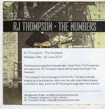 (FJ211) RJ Thompson, The Numbers - 2014 DJ CD