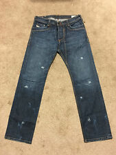 Rare Disel Jeans Timmen 88S, 088S, Bullet holes, Sz W33 L32, Made in Italy, 772