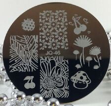 Round Nail Stamping Plates Manicure Pedicure Nail Art Q46
