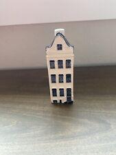 KLM Airlines Bols Blue Figural Dutch House Bottle by Delft Holland Royal #58