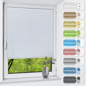 Plissee ohne Bohren klemmfix Verdunklungsrollo Thermoplissee Fensterrollo
