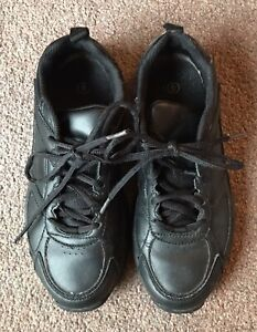 Mens Black Trainers Size 6