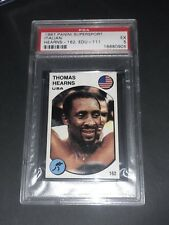 1987 Panini Stickers Supersport Italian Thomas Hearns PSA 5
