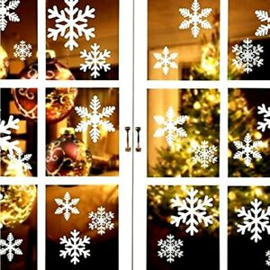 27pcs Christmas Window Stickers Xmas snowflake decals glass stickers new year