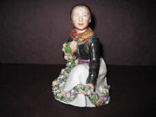 Royal Copenhagen Amager Flower Girl #12412 Porcelain Overglaze Figurine