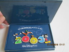 WDW Magical Place to be 2003 4 pin set Donald,Goofy,Pluto, Mickey New