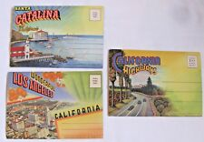 3 California  Vintage Curt Teich Post Card Fold Out Booklets-Sets Un-posted