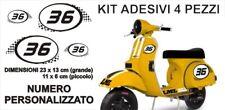 Kit Adesivi NUMERO PERSONALIZZATO LML STAR Corsa PVC sticker VESPA PX NUMBERS