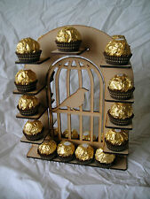Small  Bird Cage ferrero Rocher stand wedding table piece  sweet stand, Holds 26