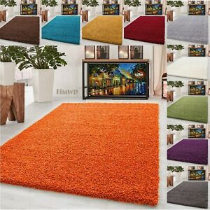 FLUFFY RUG ANTI-SLIP/SKID SHAGGY SMALL LARGE BEDROOM NON-SHED FLOOR CARPET MAT