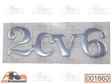 MONOGRAMME CHROME pour coffre / malle arrière de Citroen 2CV6  -1660-