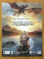 Vanguard: Saga of Heroes PC 2007 Print Ad/Poster Official Big Box MMO Promo Art