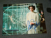 Carrie Fisher Signed 8x10 Princess Leia Photo Star Wars Celebration II