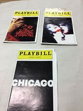 Lot of 3 Playbills from different theaters