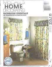 8702 Uncut McCalls Vintage Sewing Pattern Bathroom Essentials Curtain Covers