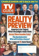 Reality Preview TV Guide Magazine Aug 2011 Americas Got Talent Bachelorette