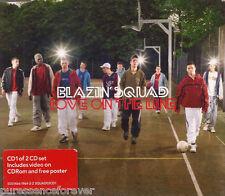 BLAZIN' SQUAD - Love On The Line (UK 3 Tk Enh CD Single Pt 1/No Poster
