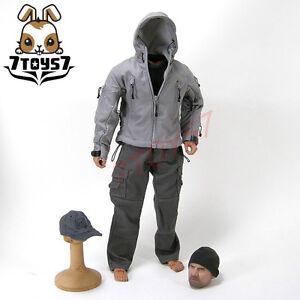 Wild Toys 1/6 Adventure & Tactical_ Grey Set _Stealth Jacket Hoodie Bid WT011E