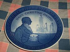 """Royal Copenhagen Plate Hans Christian Orsted 1777  1977  7 1/4"""" Across"""