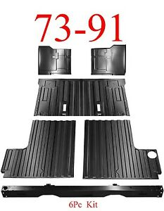 6Pc 73 91 Chevy Blazer Rear Cargo Floor, Tail Pan Section, Under Seat, GMC Jimmy